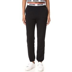 Moschino Cotton Blend and Fleece Track Pants